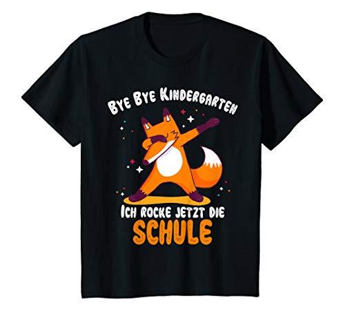 Kinder Einschulung 2020 Jungen Schulanfang Dabbing Fuchs Schulkind T-Shirt