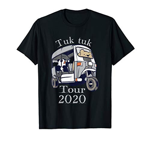 Tuk tuk tour 2020 Dreirad Panda Bär Geschenk T-Shirt