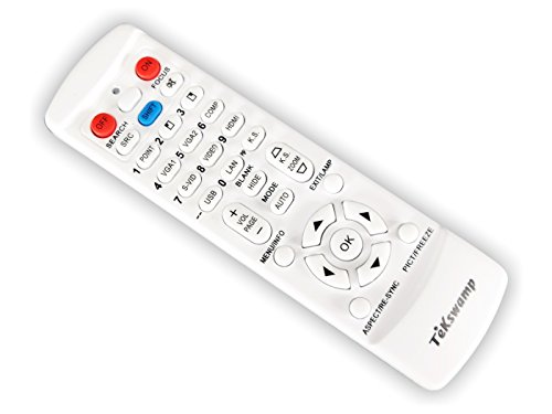 TeKswamp Video Projector Remote Control (White) for Sony VPL-PHZ10