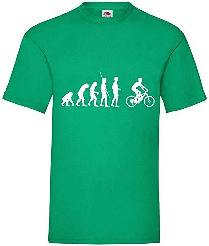 Evolution Ciclismo de Montaña Bicicleta Eléctrica Hombres Camiseta - shirt84 - Green,...