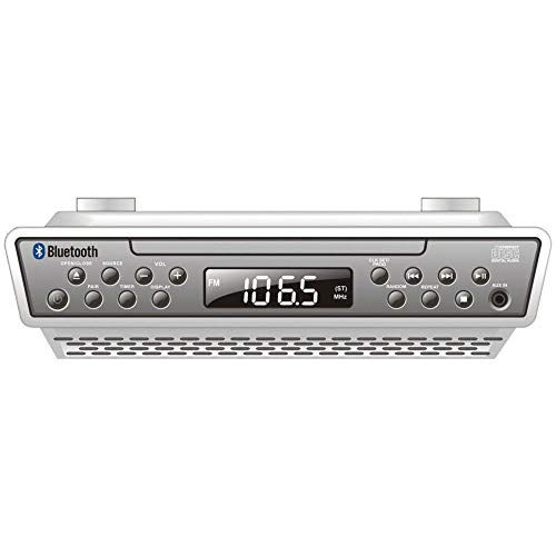 Sylvania Under the Cabinet Bluetooth Wireless CD Kitchen Clock Radio Music System