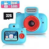 Kids Camera Toys for 4-10 Year Olds Girls, Rechargeable Children Dual Lens Digital