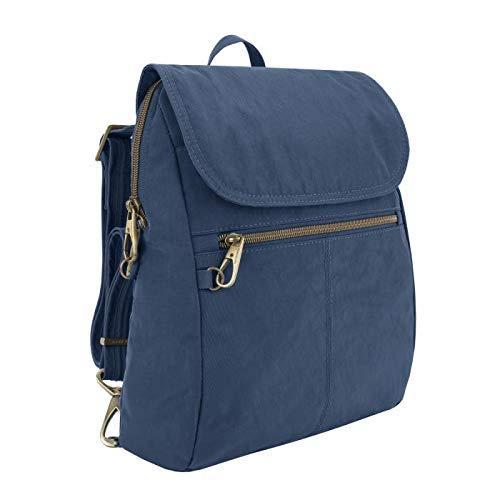 Travelon: Anti-Theft Signature Nylon Slim Backpack - Ocean