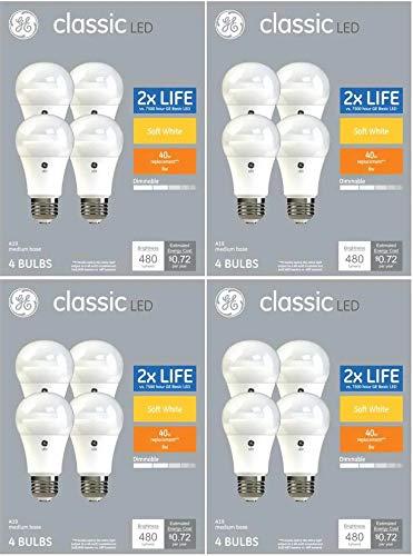 GE 40-Watt EQ A19 Soft White Dimmable LED Light Bulb (16 Pack, Classic)