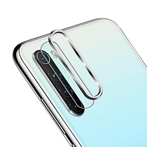 NOKOER Protector Cámara Compatible con Xiaomi Redmi Note 8 2021/2019,Xiaomi Redmi Note 8 2021/2019 Protector de Lente de cámara,Protector Metálico+ Cámara Templado Protector - Plata