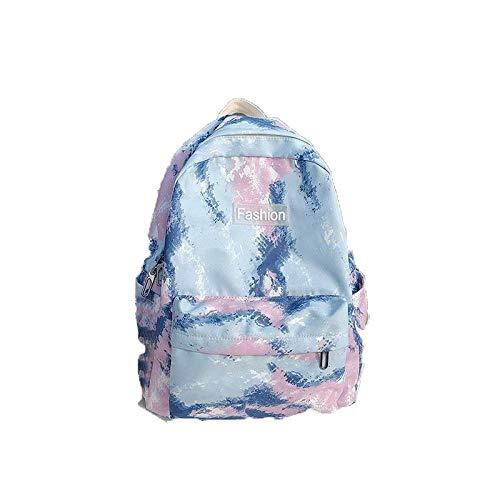 LingTongDianPu Women Backpacks Gradient Color School Bags for Teenage Girls Pink Waterproof Travel Bag Backpack Computer Sidekicks Rucksack (Color : Pink)