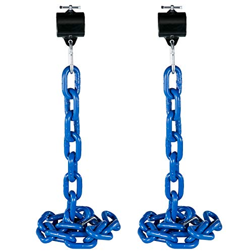 VEVOR 1 Pair Weight Lifting Chains, 16 KG Weightlifting Chains With Collars, Olympic Barbell Chains Black Weight Chains For Bench, Bench Press Chains Weighted Chains For Workout Power Lifting(Blue)
