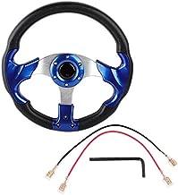 320mm Steering Wheel, 13inch Universal PU Leather Car Sport Racing Drift Steering Wheel Blue