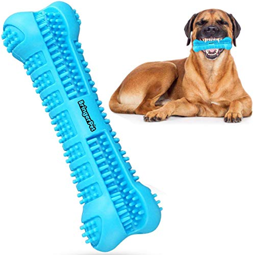 Dog Toothbrush with Toothpaste Reservoir - Dog Toothbrush Chew Toy Stick for Dog Dental Care- Safe,...
