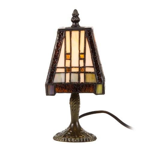 Tischlampe, Tischleuchte, Lampe im Tiffany Stil ''Squares&Stripes'' 11x21cm