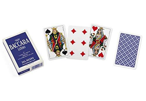 Dal Negro Baccarat Playing Cards (No Indexes, Blue Back) - 1 Deck