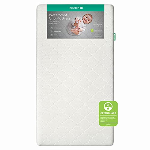 Newton Baby Crib Mattress and Toddler Bed - Waterproof - 100% Breathable Proven to Reduce Suffocation Risk, 100% Washable, Better Than Organic, 2-Stage Removable Cover -Deluxe 5.5' Thick- White