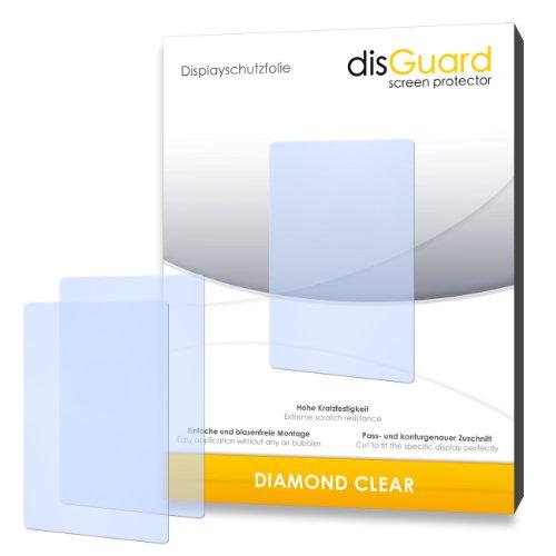 disGuard 2 x Displayschutzfolie Mitac Mio Cyclo 305 Schutzfolie Folie DiamondClear unsichtbar