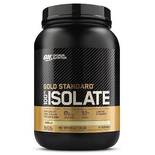Optimum Nutrition 100% Gold Standard Isolate, Proteine Whey in Polvere con BCAA e Glutammina Naturale per Aumento della Massa Muscolare, Vaniglia, 31 Porzioni, 930 g