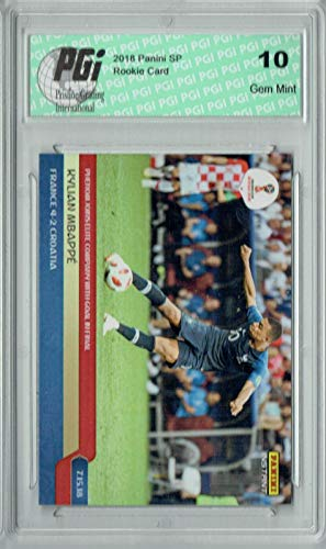 Kylian Mbappe 2018 Panini Instant #282 1 of 540 Made Rookie Card PGI 10 - Unsigned Soccer Cards