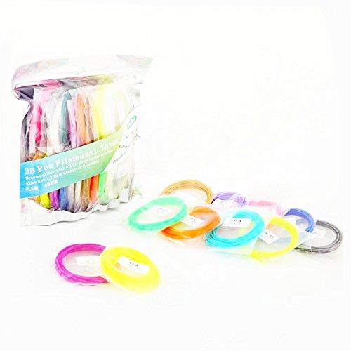 Ecloud Shop® 3D Printer Pen PLA Filament 1.75mm Fun Pack Print Ink 20 Colors