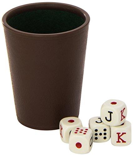 Cayro - Cubilete Forrado y 5 Dados de Poker (072/1)