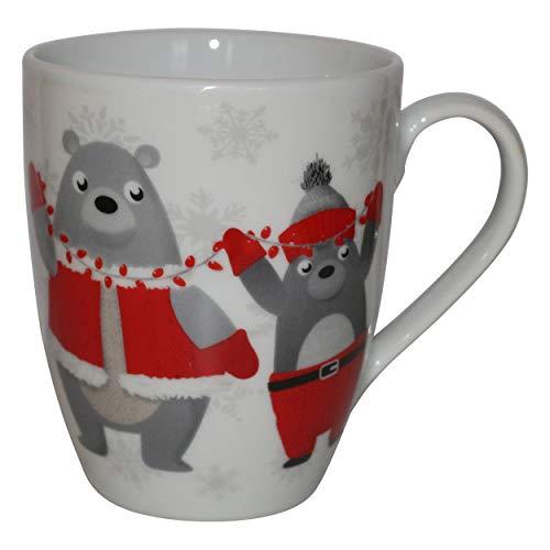 Weihnachts-Winter-Kollektion Markenporzellan Kaffee Tassen Schlitten Tannenbaum Weihnachtsmann Schneemann Pinguine Eisbär (Wintereisbär)