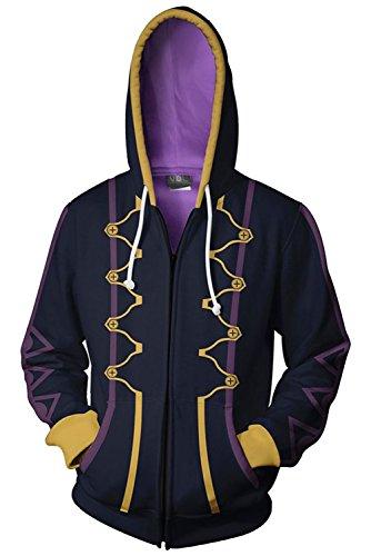 COSTHAT Fire Emblem Awakening Heroes Robin Daraen Cosplay Hoodie Black Zip Up Hooded Coat