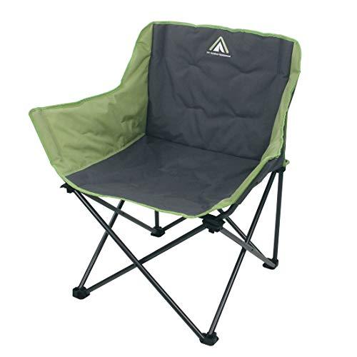 10T Campingstoel, Jace Beechnut, XXL, klapstoel tot 130 kg, stoel met bekerhouder + zijvak