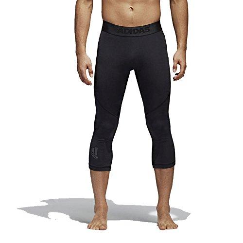 adidas Mallas para Hombre, Hombre, Pantalones Pirata, EBR66, Negro, 3X-Large/Large