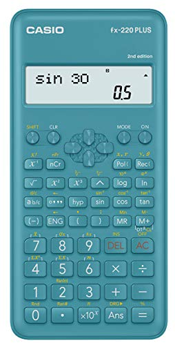 Casio FX-220PLUS 2 Calcolatrice Scientifica, Azzurro