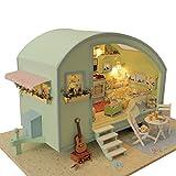 ZUOQUAN Puppenhaus DIY Dollhouse Kit Licht Modell Kreativ Geburtstag Weihnachts Geschenk mit Licht...