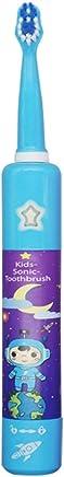 子供の電気USB充電式歯ブラシかわいい柔らかい髪音楽歯ブラシホルダーと1つの交換用ヘッド (色 : 青, サイズ : Free size)