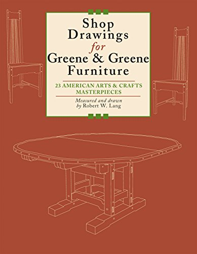Shop Drawings for Greene & Greene Furniture: 23 American Arts and Crafts Masterpieces (Fox Chapel Publishing)