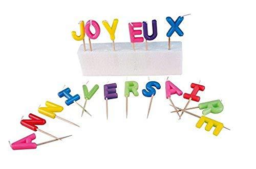 P' tit Clown–80011–Candela lettere–Buon Compleanno