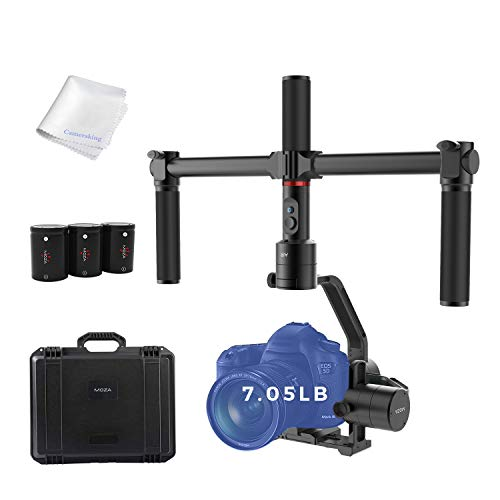 MOZA Air Gimbal 3-Axis Handheld Stabilizer Camera Gimbal Include Dual Handle Set Quick Release System for Mirrorless Cameras DSLRs Max Payload 7.05Lb Auto-Turning 360 Degree