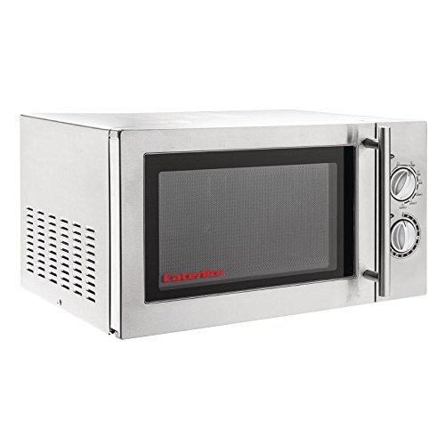 Caterlite Commercial Microwave Oven with Grill 900W Light Duty Stainless Steel Appliance