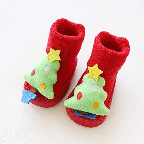 whmyz Calcetines de invierno para recién nacidos de Navidad, suelas de goma...