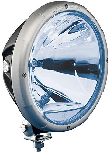 HELLA 1F8 009 797-331 Fernscheinwerfer - Rallye 3003 - FF/Halogen - H1/W5W - 12V/24V - rund - Ref. 50 - blaue Streuscheibe - blau - Anbau - Einbauort: links/rechts