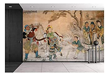 wall26 - Chinese Classic Wall Drawing - Removable Wall Mural | Self-Adhesive Large Wallpaper - 66x96 inches