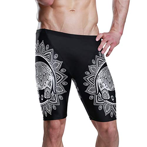 Mr.XZY India Elephant Men's Jammer Swimsuit Athletic Durable S 2010057