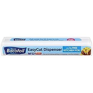 Bacofoil Refillable EasyCut Kitchen Foil Dispenser with 5m Starter Roll, Durable, Long Lasting, 30cm wide:Hashflur