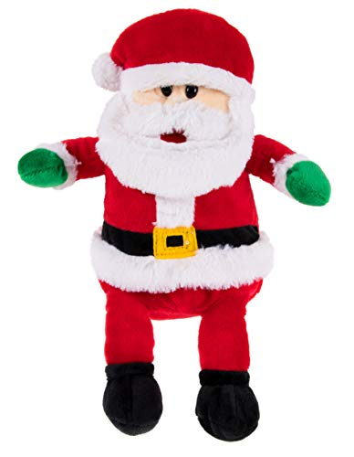 Christmas Plush Toy, Santa Stuffed Animal for Kids Gifts (7.5 x 10.7 x 3 in)