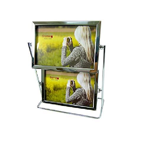 Porta Retrato Duplo Giratório Para 4 Fotos