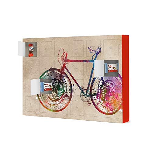 artboxONE Advent Calendar with Kinder® chocolate Bike digital art Sports Christmas Calendar