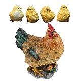 fenteer decorazione realistica del giardino della statua della statua dell'animale da collezione del pulcino e della gallina della resina