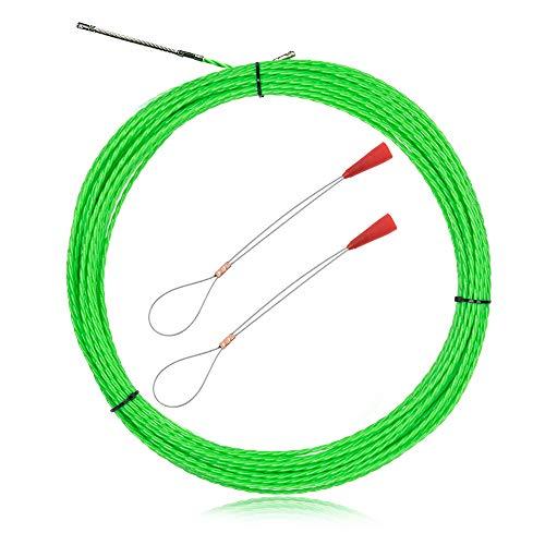 Dotoy 通線 ワイヤー 30M グリーンスリムライン スリムヘッド 通線ワイヤー ロッド径約4.0mm スチールワイヤー 通線 入線専用ワイヤー 通線工具