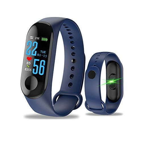 YUYLE Smartwatches Smart Band bloeddrukfitness polshorloge IP67 zwemmen waterdicht GPS-tracker hartslagmeter smarband mannen vrouwen, blauw