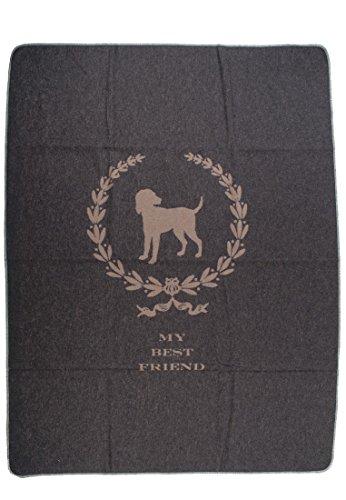 David Fussenegger - Hundedecke My Best Friend grau 100 x 140 cm