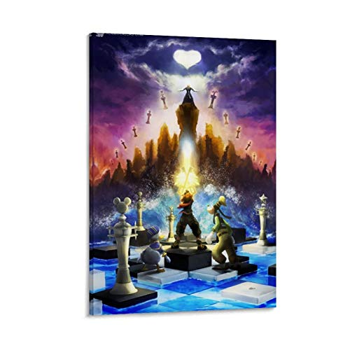 DRAGON VINES Kingdom Hearts 3 Ajedrez Donald Duck Mickey Goofy Sora - Póster de anime (50 x 75 cm)