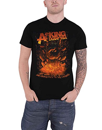 Asking Alexandria T Shirt Metal Hand Band Logo Nue offiziell Herren