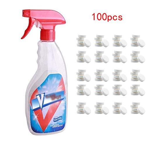 per Efervescente Spray Cleaner Set de Detergente Spray de Limpieza Multifuncional para Hogar de 1/5/10 pcs Efervescentes (A, 100PCS)