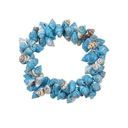 DALIU Pulsera elástica de Concha de Concha para Mujer, Pulseras de Playa de Estilo mar, brazaletes, Verano, Pulsera Femenina, joyería