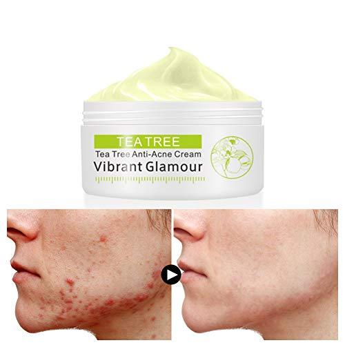Ofanyia Soin du visage anti-acné de Tea Tree Enlèvement de boutons de poil Soin anti-taches crème de traitement
