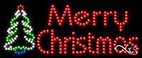 11x 27x 1cm Merryクリスマスアニメーション点滅LEDウィンドウサイン